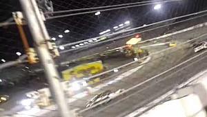 Raw Video: Fan climbs fence during NASCAR race