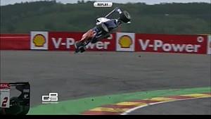2014 GP3 Spa Tereschenko in massive flip