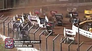 Highlights: World of Outlaws STP Sprint Cars National Open Williams Grove Speedway October 4th, 2014
