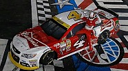 Harvick holds on, wins Charlotte