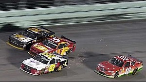 Berry, Gaughan collide late at Homestead