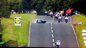 Ulster GP 2014 - Anstey highside causes carnage behind
