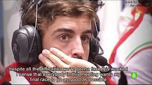 Fernando Alonso documentary: Last race with Ferrari. (Part 1/2)