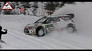 Kris Meeke spin - Rally Sweden power stage