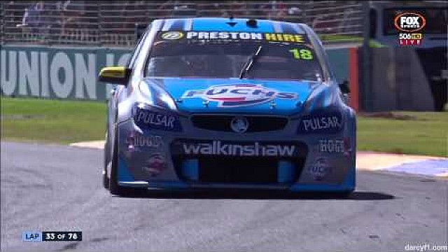 V8 Supercars 2015 Adelaide Holdsworth Crash