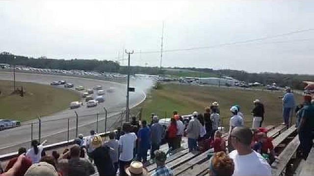 Will Kimmel crashes during the ARCA 200 Mobile race