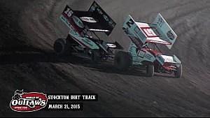 Aspectos destacados: Mundo de Outlaws Sprint Cars Stockton Pista de tierra 21 de marzo 2015