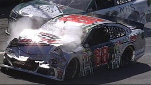 Earnhardt Jr. takes heavy damage