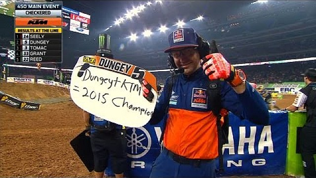 Ryan Dungey Clinches His Second 450 Supercross Championship - 2015 Supercross