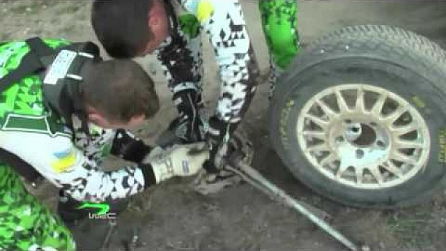 WRC - XION Rally Argentina 2015: Protasov´s wheel change