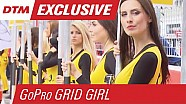The spy camera DTM grid girl at Hockenheim 2015