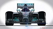 La Mercedes W05 a confronto con la Red Bull RB10