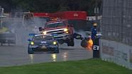 Авария на гонке в Детройте