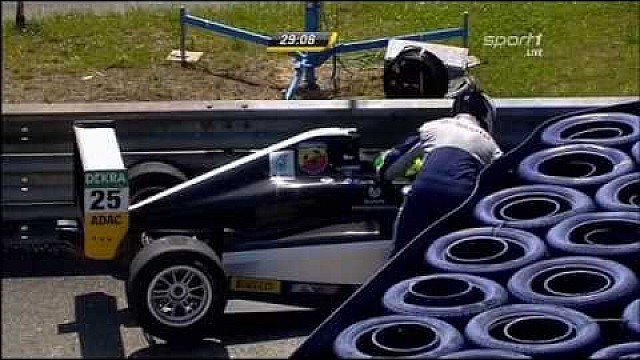 ADAC Formula 4 at Red Bull Ring - first crash of Mick Schumacher