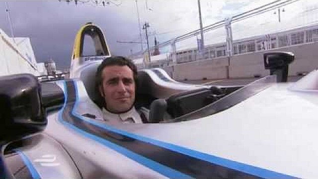 Dario Franchitti tests the Formula E car