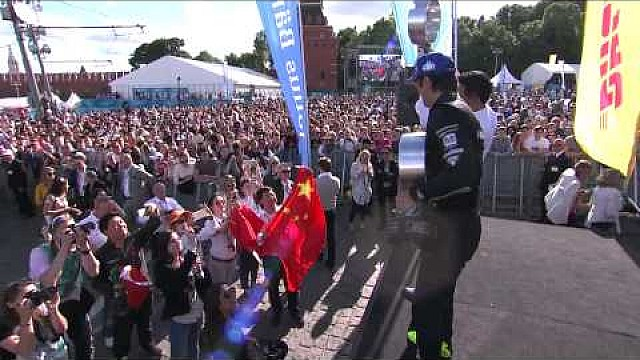 Podium celebration: Moscow ePrix