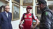 Kimi Raikkonen meets Ken Block and Lord March