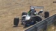 Matt Solomon crashes in Zandvoort F3 practice