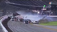 Massive wreck at end of NASCAR Daytona Coke Zero 400