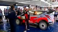 WRC, Rally Italia Sardegna 2015, Hyundai festeggia il secondo posto di Paddon