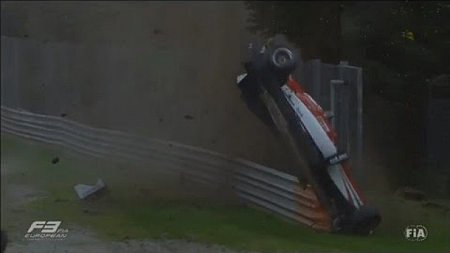 European Formula 3 2015. Monza. Horror crash of Lance Stroll