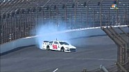 Timmy Hill crashes at Indianapolis during practice