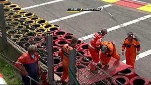 Fuerte choque de Eric Scalvini en Spa-Francorchamps