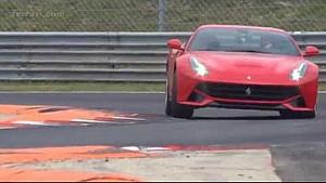 Sebastian Vettel tests Ferrari F12 Berlinetta