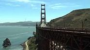 IndyCar drivers cross Golden Gate Bridge for Justin Wilson