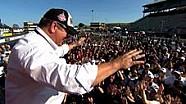 Chip Ganassi and Scott Dixon crowd surf at Sonoma