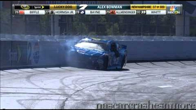 Aric Almirola crashes at New Hampshire