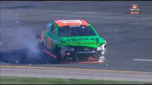 Danica Patrick big collision with David Ragan