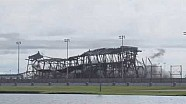 Daytona International Speedway superstretch grandstand implosion