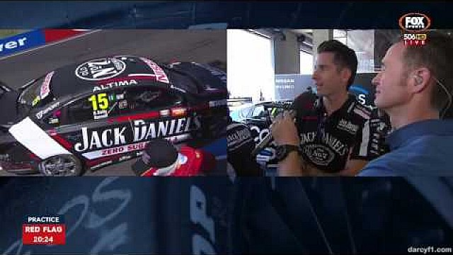 David Russell crashes at Bathurst in practice