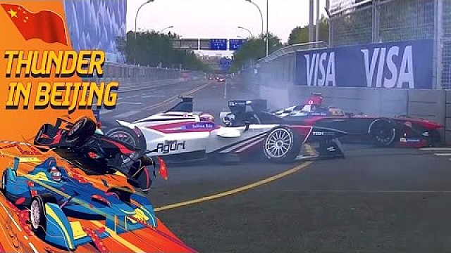 Da Costa and Villeneuve Come Together At Turn 3! - Beijing ePrix