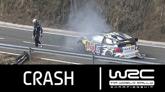 Rally de España 2015: CRASH Sébastien Ogier