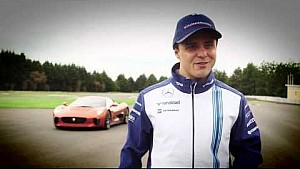 Felipe Massa sulla Jaguar C-X75 a Mexico City