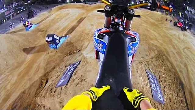 FMX Tricks From Luc Ackermann's POV | Red Bull X-Fighters 2015