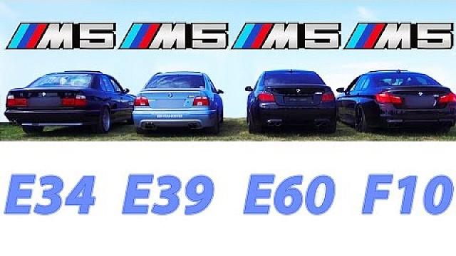 BMW M5 Sound Battle E34 vs E39 vs E60 vs F10 REVS Revving V8