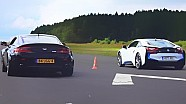 BMW i8 vs Aston Martin Vantage DRAG RACE Acceleration 550Plus Club