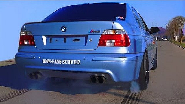 Bmw M5 E39 V8 Sound 0 280 Acceleration Autobahn Onboard Flames