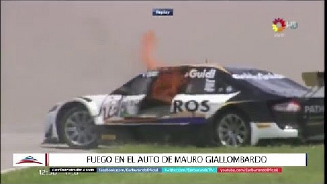 Scary fire during Argentina Top Race series event at Río Cuarto