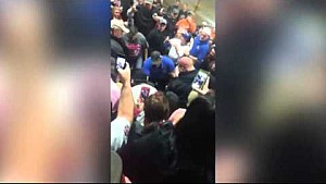 Second view: Tony Stewart confronts heckler at Chili Bowl