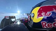 Onboard with Verstappen on snow