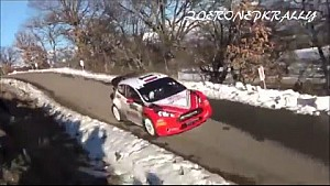 Robert Kubica on the limit Rally Monte Carlo 2016