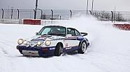 Porsche 911, drifting sulla neve al Ring