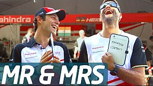 Mr & Mrs: Bruno Senna and his Mechanic Andreas - Formula E