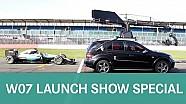 ¡ EXCLUSIVO! W07 detrás de imágenes el escape de Mercedes F1 2016