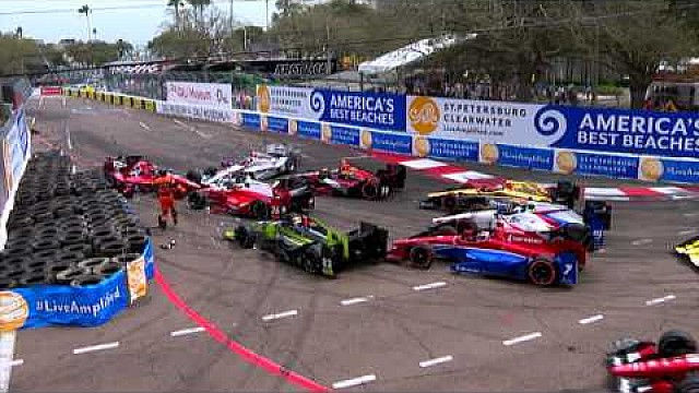 Multi-Car Incident, Turn 4 At The Firestone GP of St. Pete