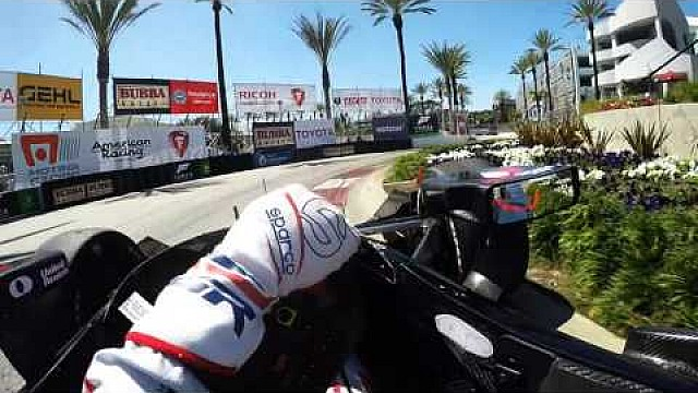 IndyCar-Helmkamera in Long Beach